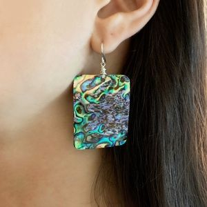 NWT KATY GINGER DESIGNS Abalone Earrings